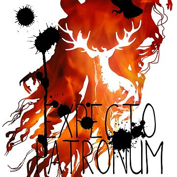 EXPECTO PATRONUM HEDWIG FIRE by CharliFaure