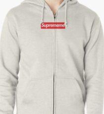 Supreme Meme = Suprememe Zipped Hoodie