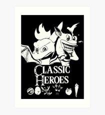Classic Heroes Art Print