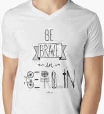 Be brave in Berlin Men's V-Neck T-Shirt