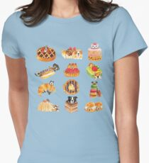 Puppy Pastries Womens Fitted T-Shirt