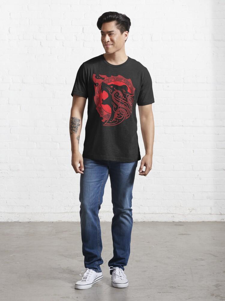 Alternate view of BERSERKER.RAGE. Essential T-Shirt