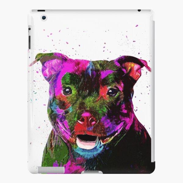 Staffordshire Bull Terrier Pop Art Portrait iPad Snap Case