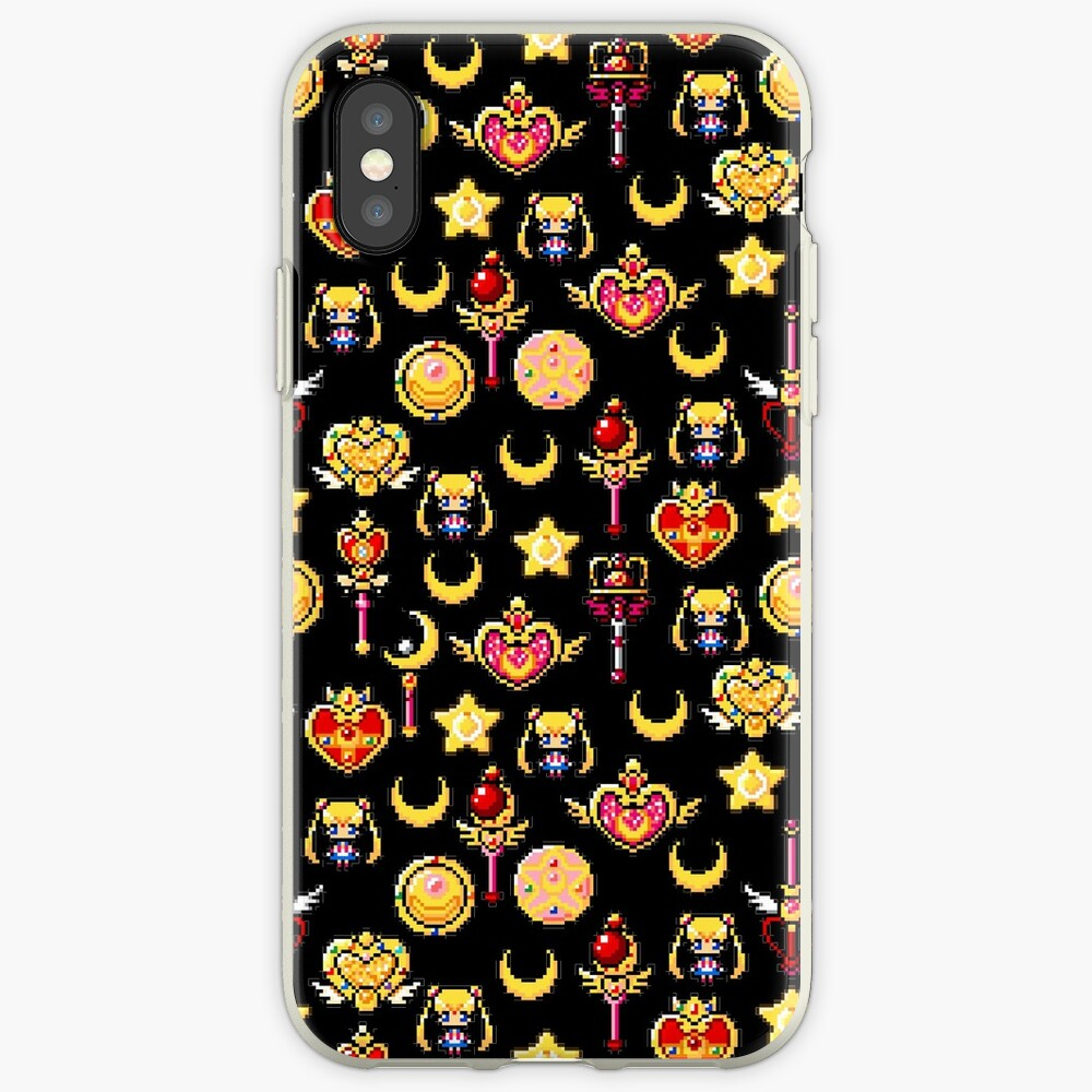 Sailor Moon - Schwarz iPhone-Hülle & Cover