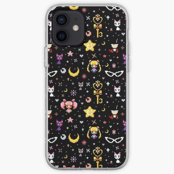 Sailor Moon family - Black iPhone Soft Case