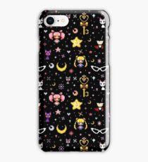 Sailor Moon family - Black iPhone Case/Skin