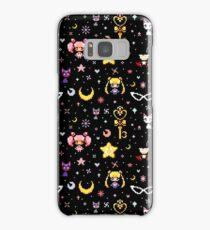 Sailor Moon family - Black Samsung Galaxy Case/Skin