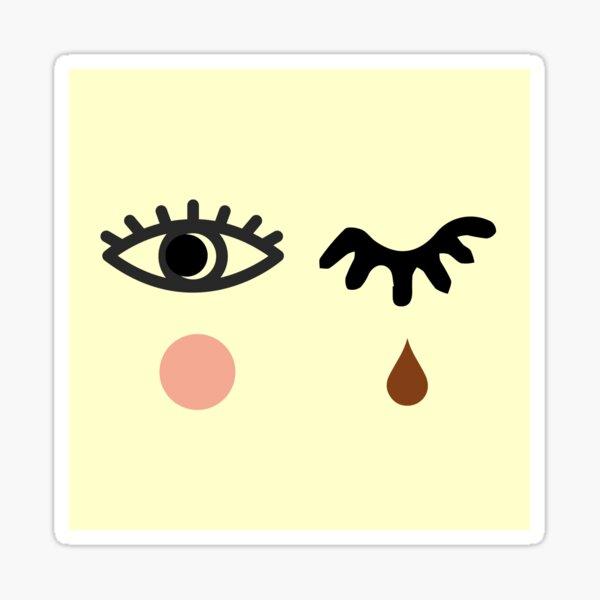 Eyelash and Teardrop Sticker