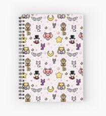 Sailor Moon family - Pink Spiral Notebook