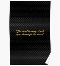 "The road to easy street... ""John Madden"" Inspirational Quote Poster"