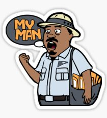 My Man Mail man Sticker