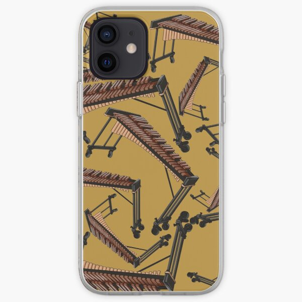 Xylophone Musical Instrument Pattern Yellow iPhone Soft Case