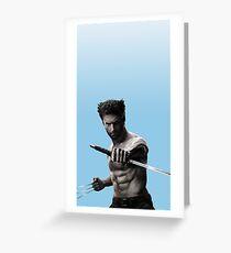 Pastel Blue Wolverine  Greeting Card