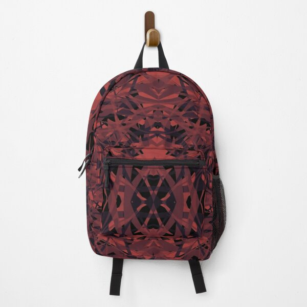 Red Noir Sharp Abstract Pattern Backpack