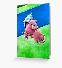 Pokemon Go Bang SlowBro Slowpoke Meme Greeting Card