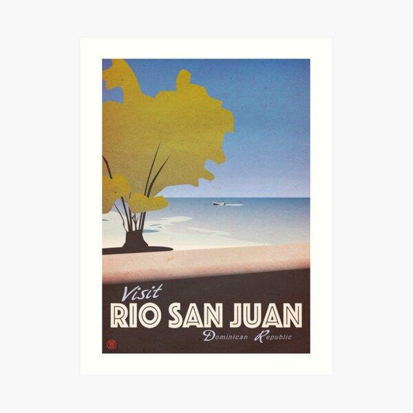 Visit Rio San Juan Dominican Republic Vintage Poster Impression artistique