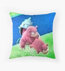 Pokemon Go Bang SlowBro Slowpoke Meme Throw Pillow