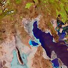 Great Salt Lake Utah Satellite Image by Jim Plaxco