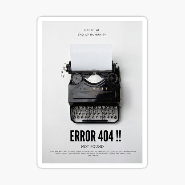 Error 404!! Sticker