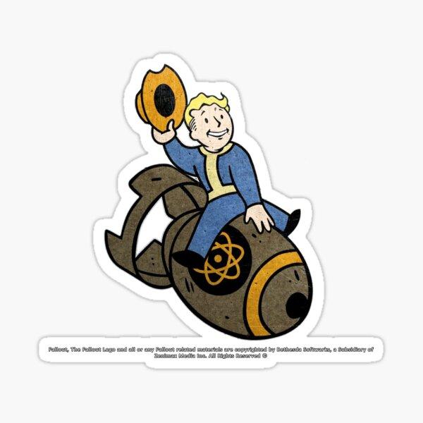 VaultBoy: Atom Bomb Cowboy Sticker