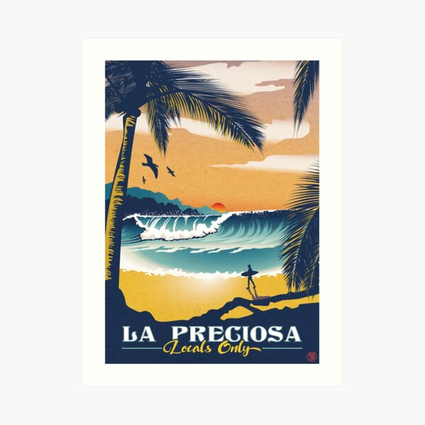 La Preciosa Locals Only Vintage Poster Impression artistique