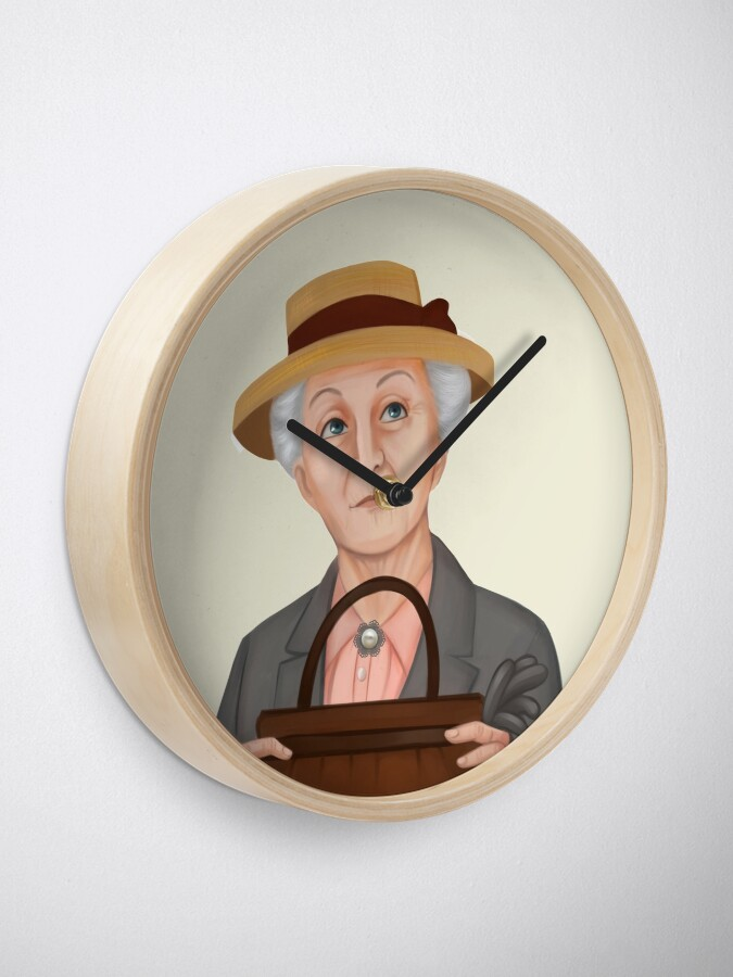 Alternate view of Miss Jane Marple Clock