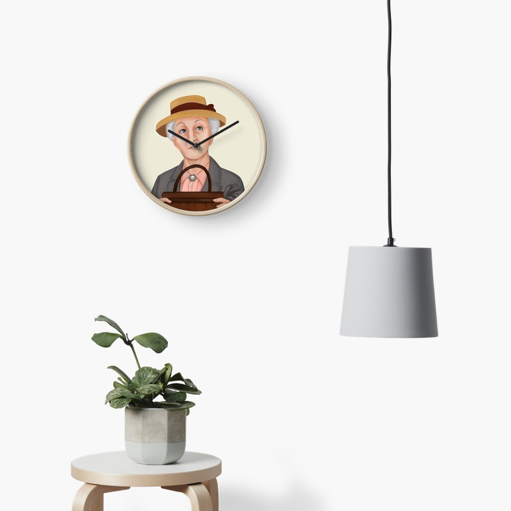 Miss Jane Marple Clock