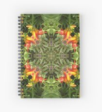 Lily, by nature, garden, mandala, green, beautiful, flowers, summer, spring, colors, pattern Spiral Notebook