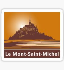Mont Saint-Michel, Road Sign, France Sticker