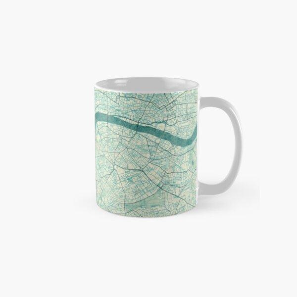 London Map Blue Vintage Classic Mug
