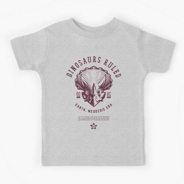 Dinosaurs Ruled [Burgundy Mono] Kids T-Shirt