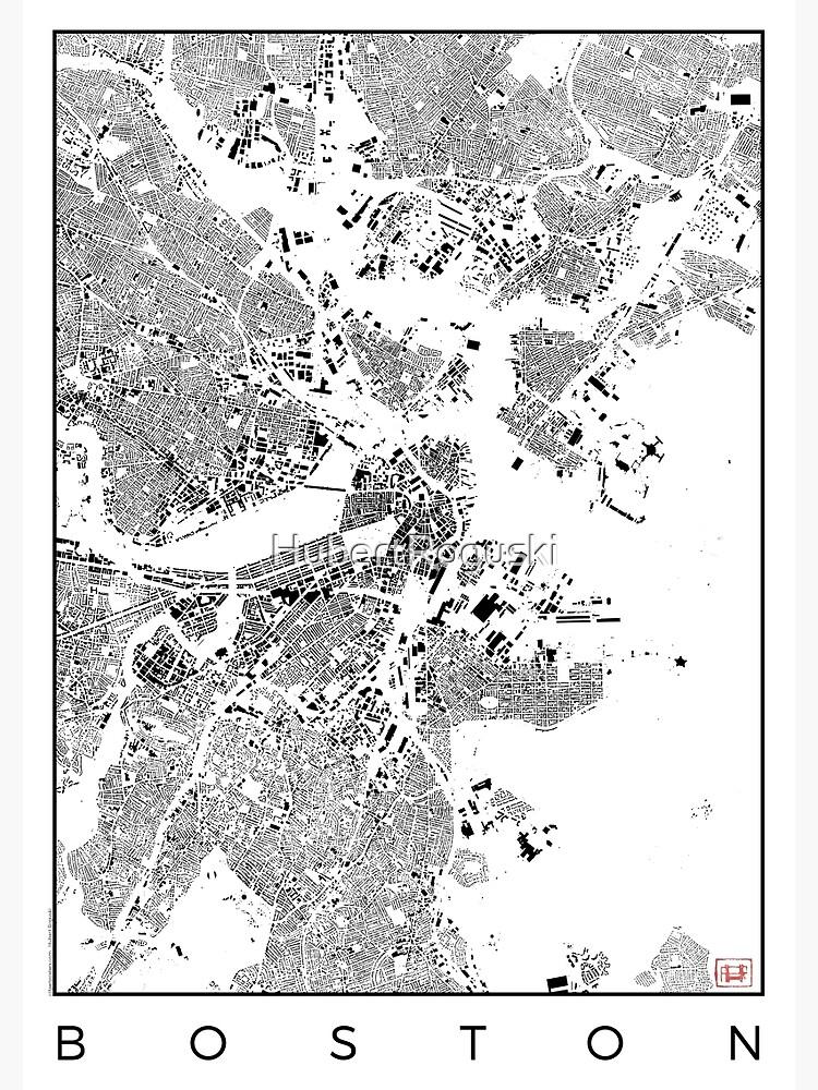 Boston Map Schwarzplan Only Buildings Urban Plan by HubertRoguski