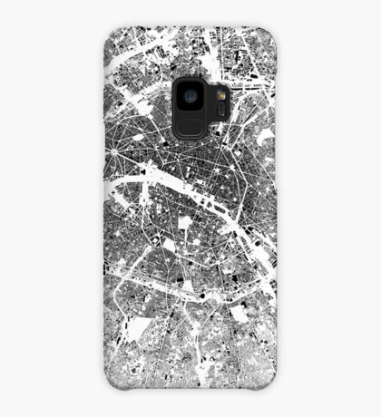 Paris Map Schwarzplan Only Buildings Urban Plan Case/Skin for Samsung Galaxy