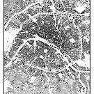 Paris Map Schwarzplan Nur Gebäude Urban Plan von HubertRoguski
