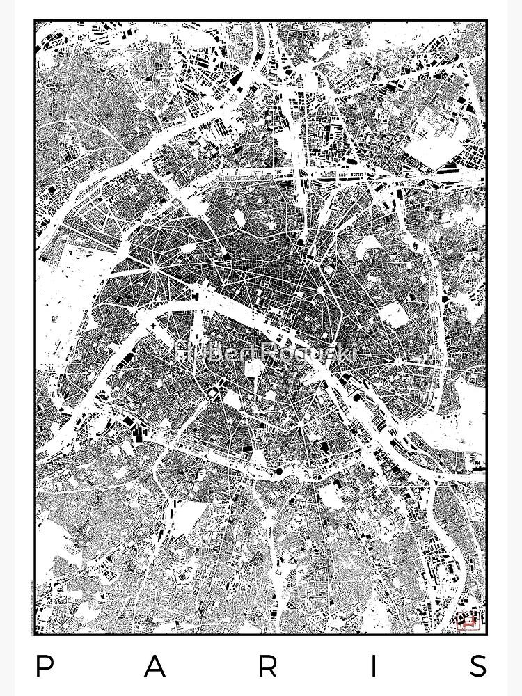 Paris Map Schwarzplan Only Buildings Urban Plan by HubertRoguski
