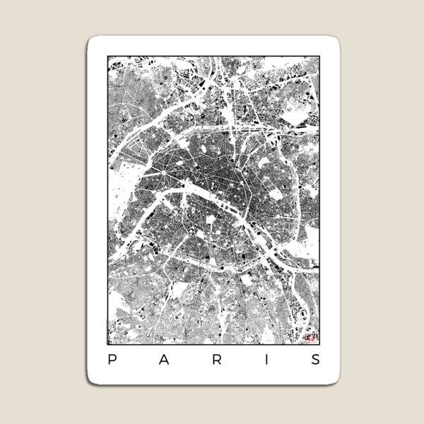 Paris Map Schwarzplan Only Buildings Urban Plan Magnet