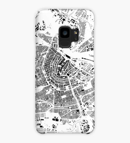 Amsterdam Map Schwarzplan Only Buildings Urban Plan Case/Skin for Samsung Galaxy
