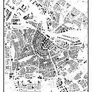 Amsterdam Karte Schwarzplan Nur Gebäude Urban Plan von HubertRoguski