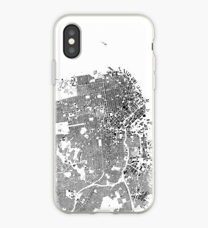 San Francisco Map Schwarzplan Only Buildings Urban Plan iPhone Case