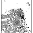 San Francisco Karte Schwarzplan Nur Gebäude Urban Plan von HubertRoguski