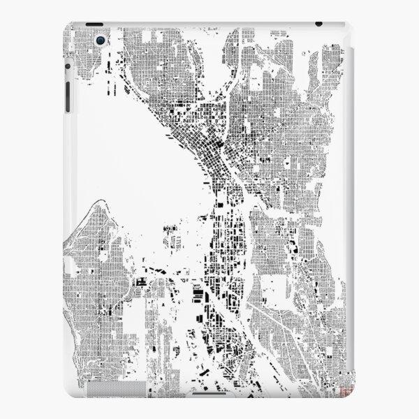Seattle Map Schwarzplan Only Buildings Urban Plan iPad Snap Case