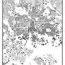 Baltimore Karte Schwarzplan Nur Gebäude Urban Plan von HubertRoguski