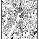 Moskau Karte Schwarzplan Nur Gebäude Urban Plan von HubertRoguski
