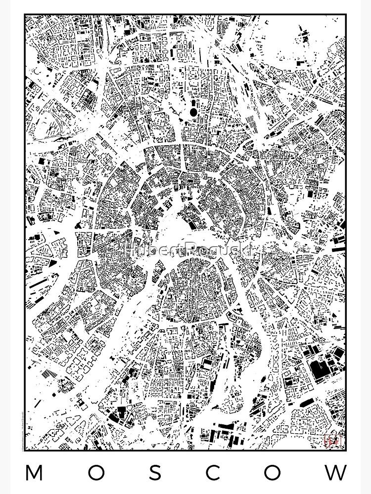 Moscow Map Schwarzplan Only Buildings Urban Plan by HubertRoguski