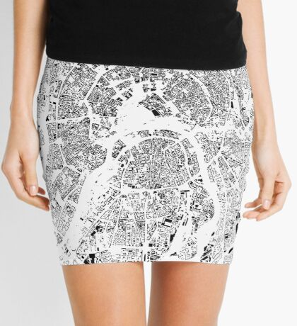 Moscow Map Schwarzplan Only Buildings Urban Plan Mini Skirt