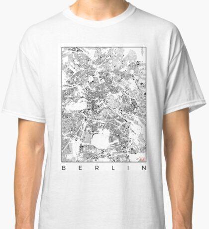 Berlin Map Schwarzplan Only Buildings Urban Plan Classic T-Shirt