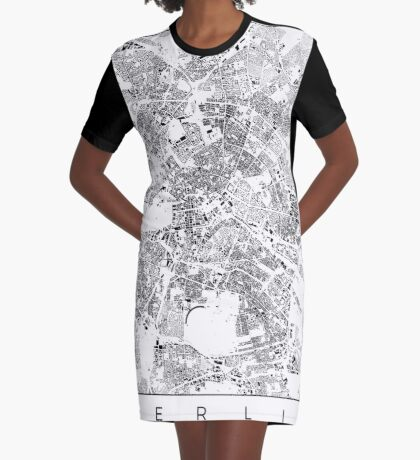 Berlin Map Schwarzplan Only Buildings Urban Plan Graphic T-Shirt Dress