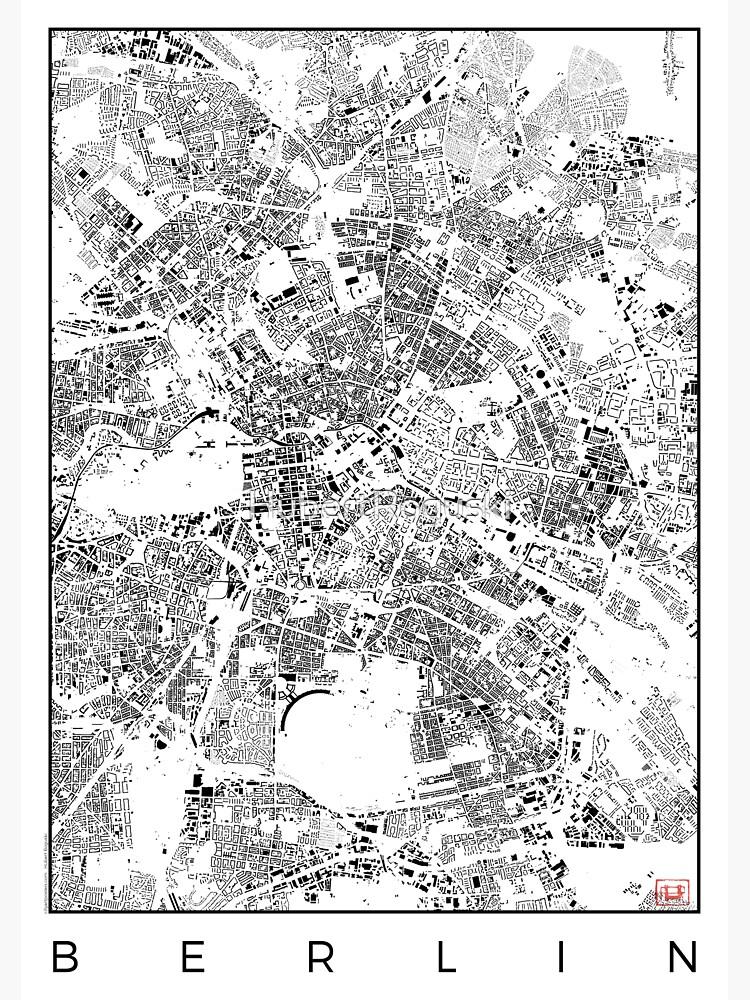 Berlin Karte Schwarzplan Nur Gebäude Stadtplan von HubertRoguski