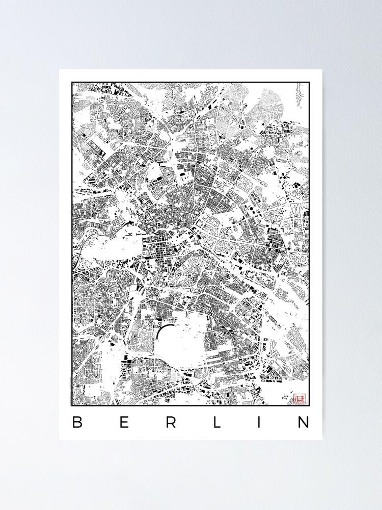 Alternate view of Berlin Map Schwarzplan Only Buildings Urban Plan Poster
