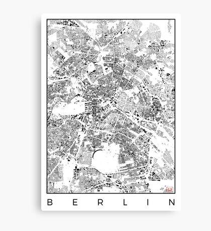 Berlin Map Schwarzplan Only Buildings Urban Plan Canvas Print